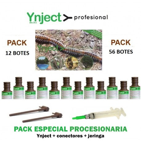 Pack 12/56 Ynject Profesional Especial Procesionaria